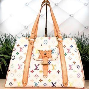 Authentic Louis Vuitton Aurelia White Multicolor